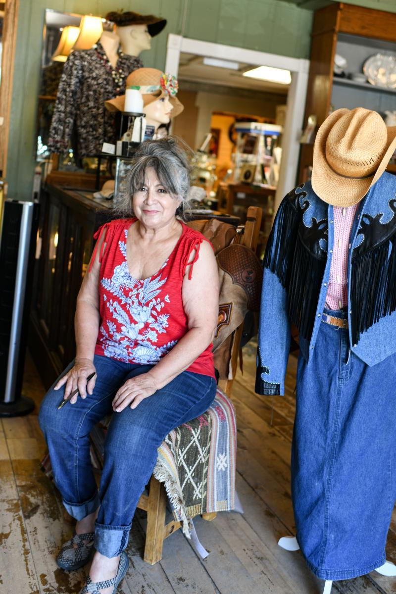 Nancy Flores at the Antique Co-op