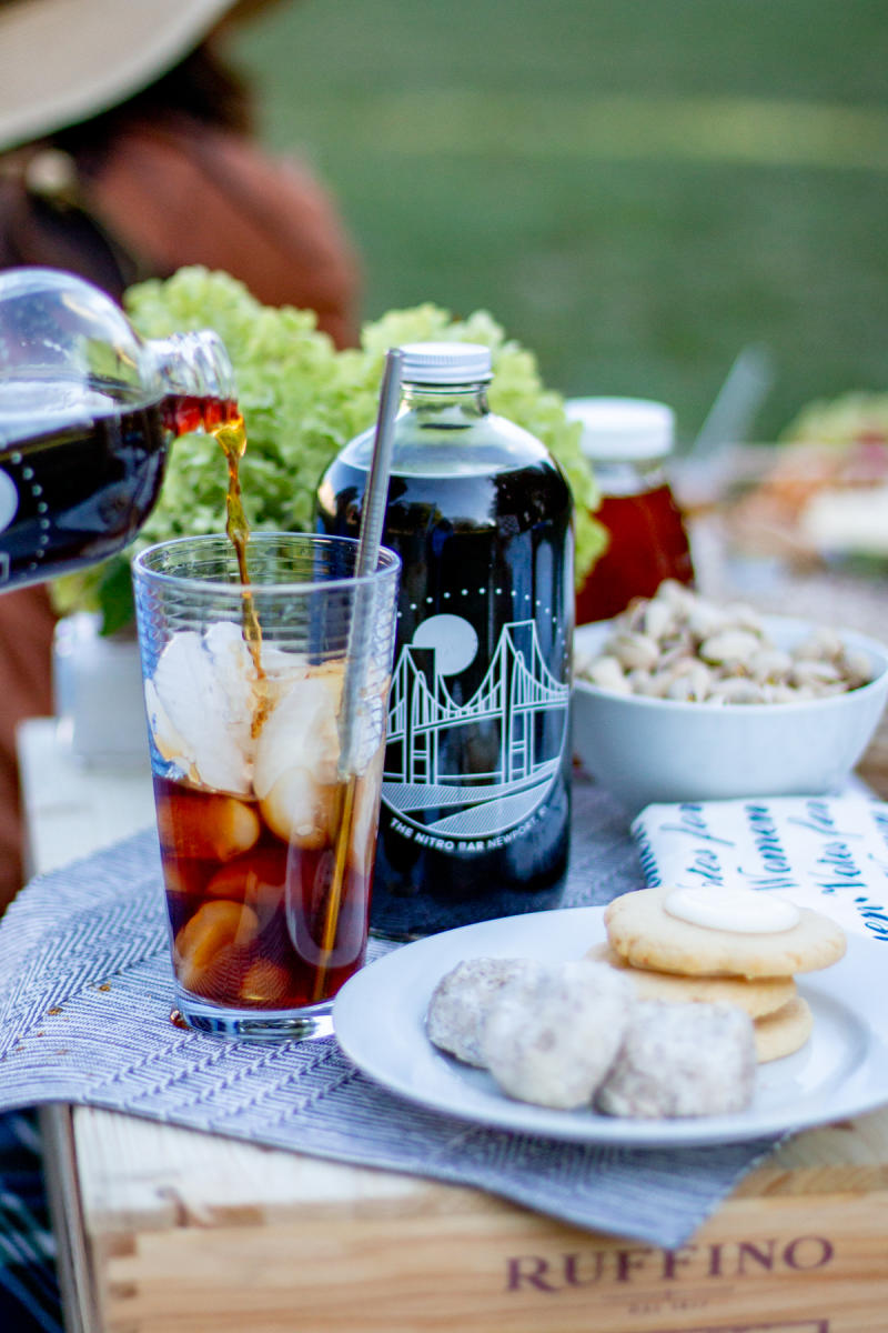 Cold Brew Coffee At A Newport Mansions Picnic