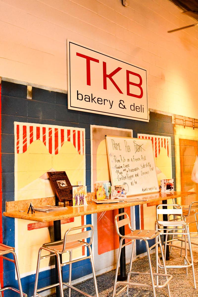 TKB Bakery & Deli sign