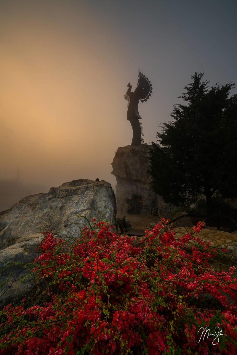 Sunrise Fog at the Keeper of the Plains