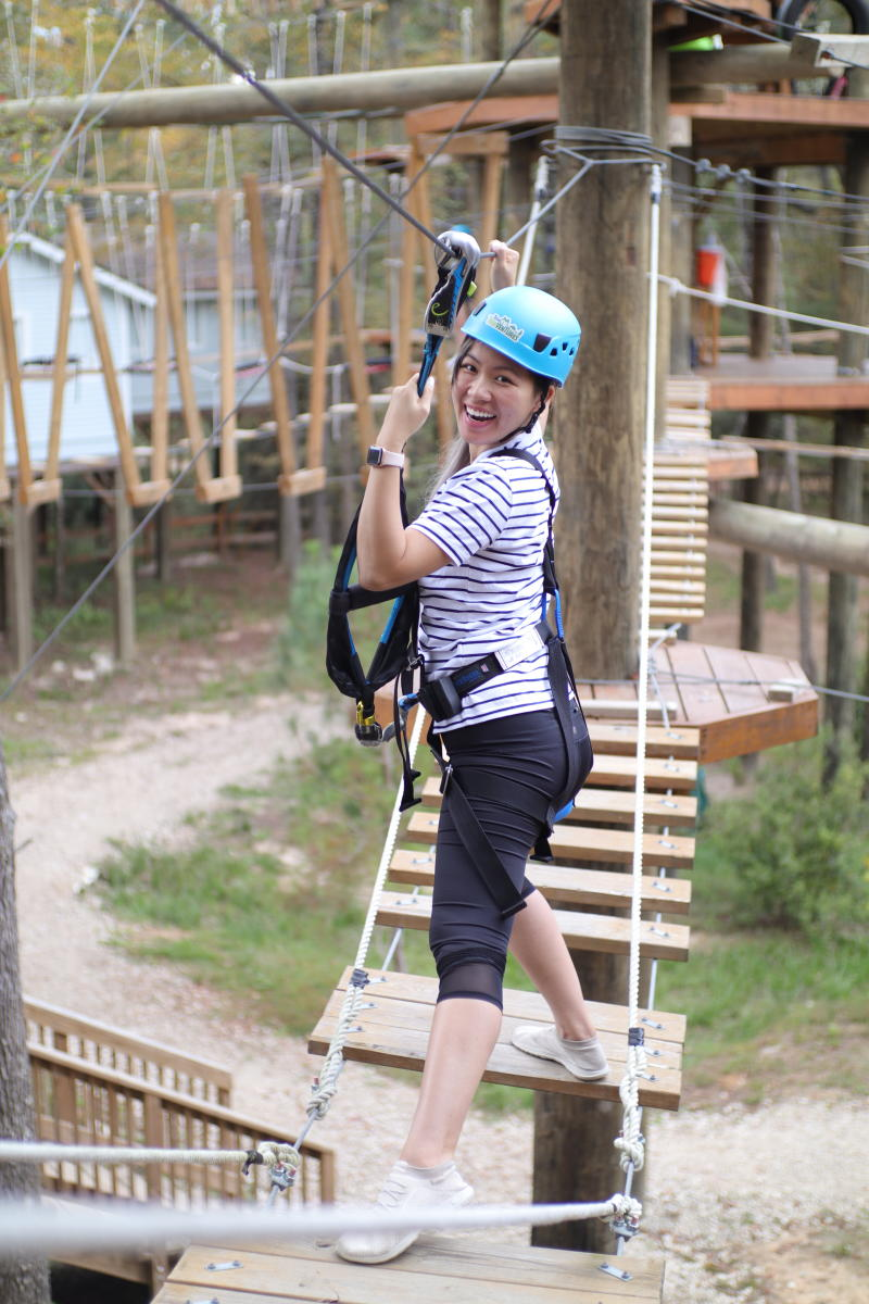 Climb among the treetops at Texas TreeVentures
