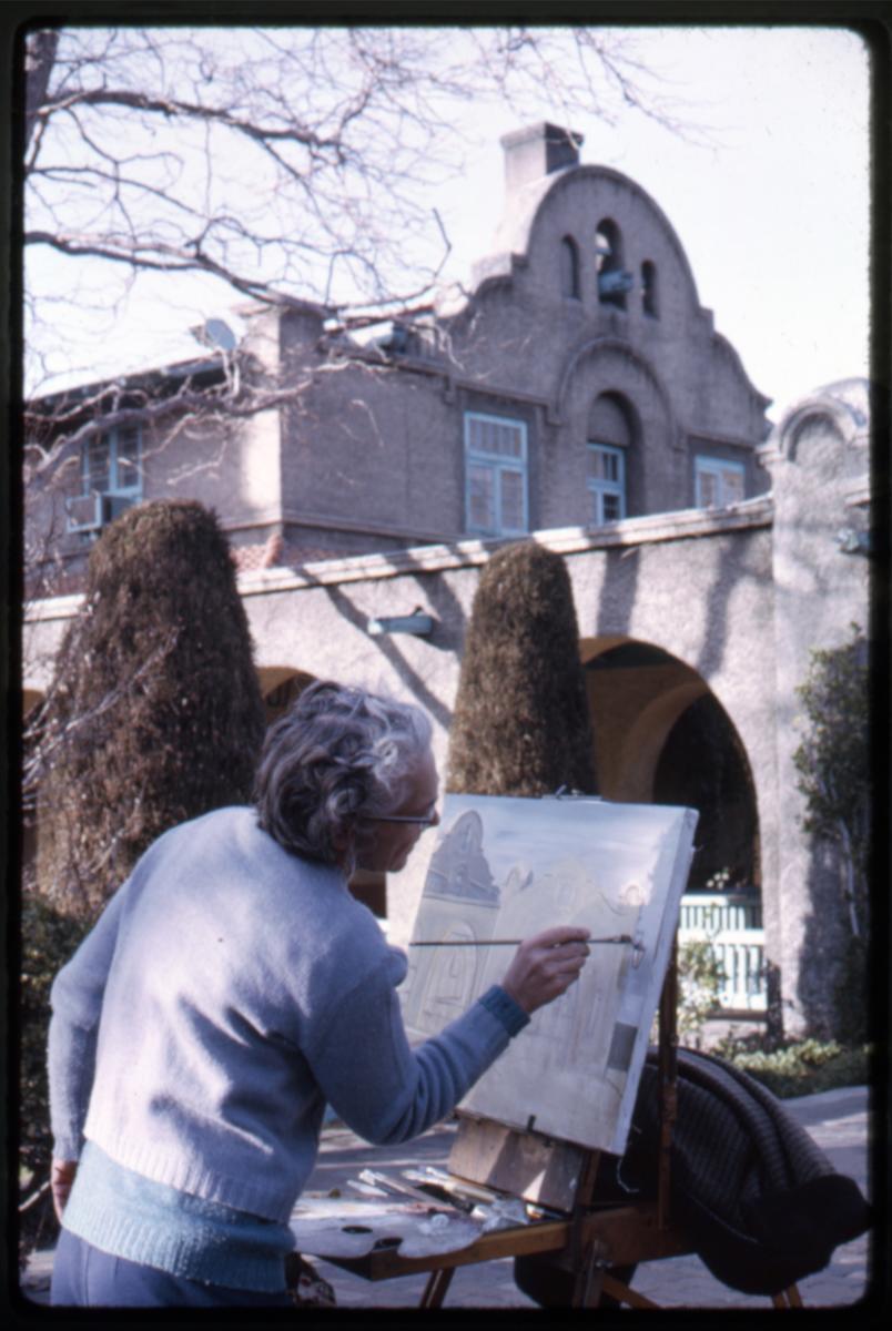 A painter at Albuquerque's Alvarado Hotel, 1969, New Mexico Magazine