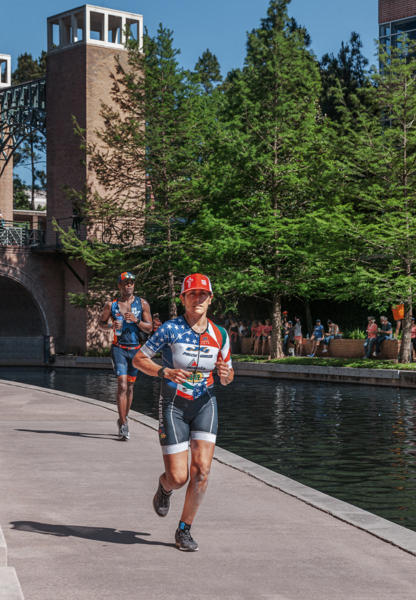 IRONMAN Running Course on The Woodlands Waterway