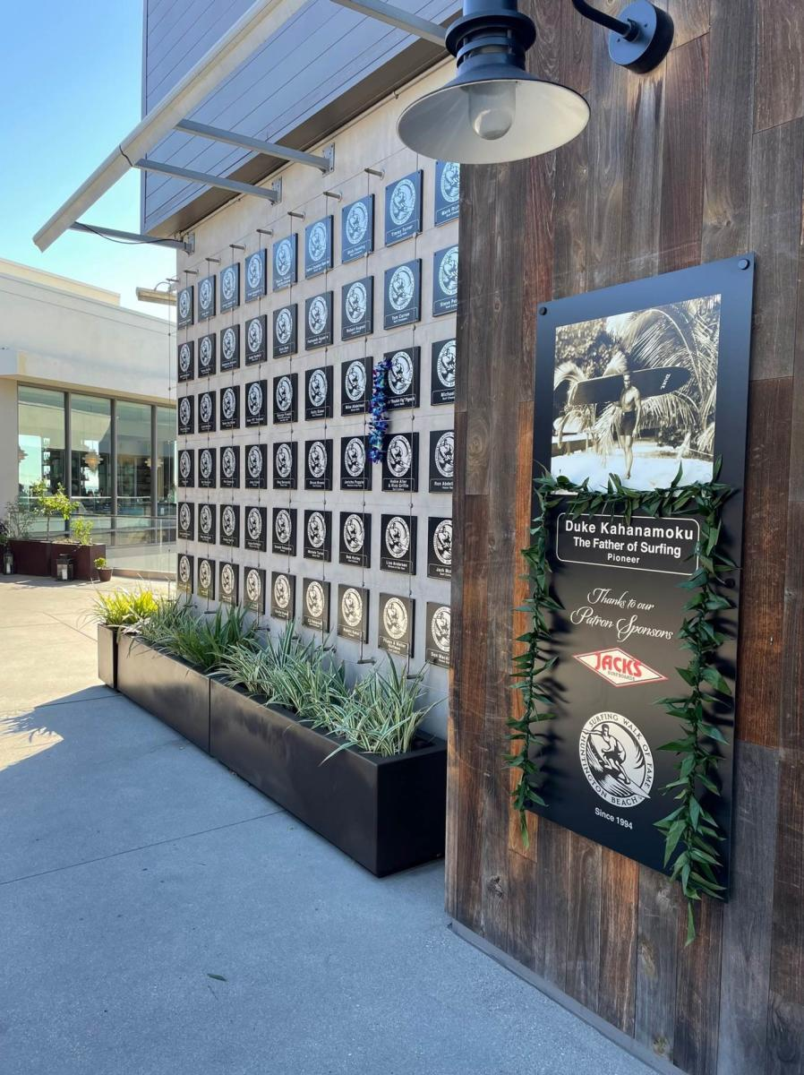 Surfing Walk of Fame Honor Wall at Pacific City