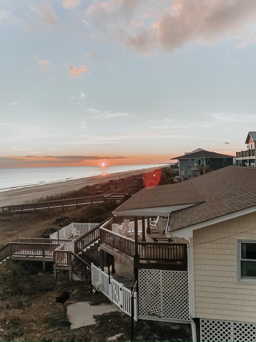 The Coastal Blonde Sunset