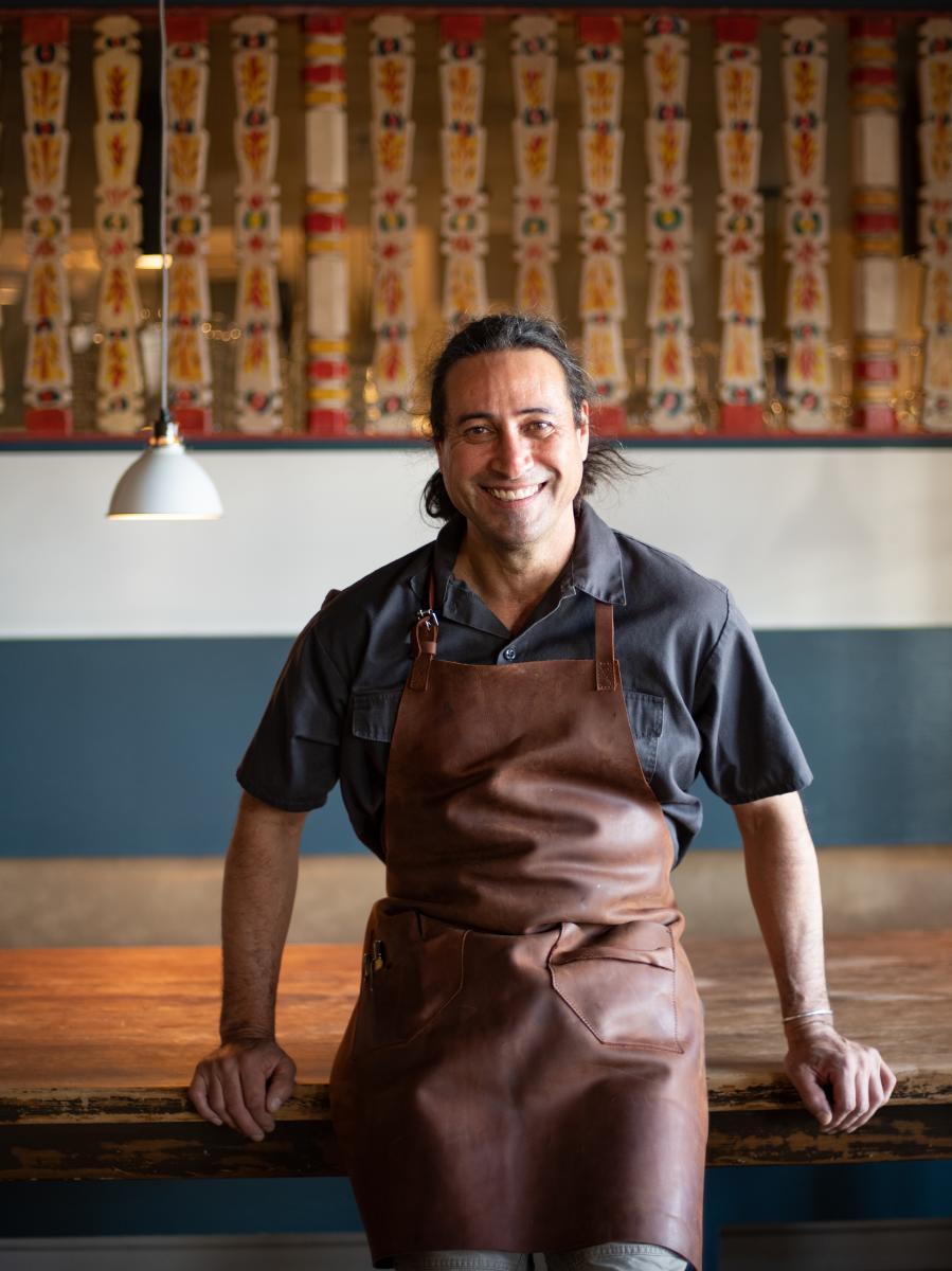 Chef Jonathan Perno at Campo, in Los Ranchos de Albuquerque, New Mexico Magazine