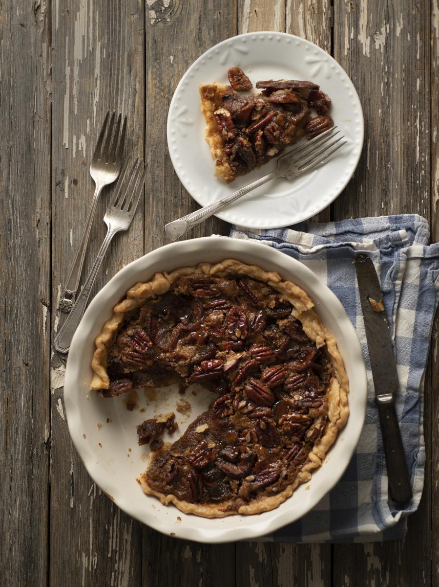 Brown sugar dried apple and pecan pie