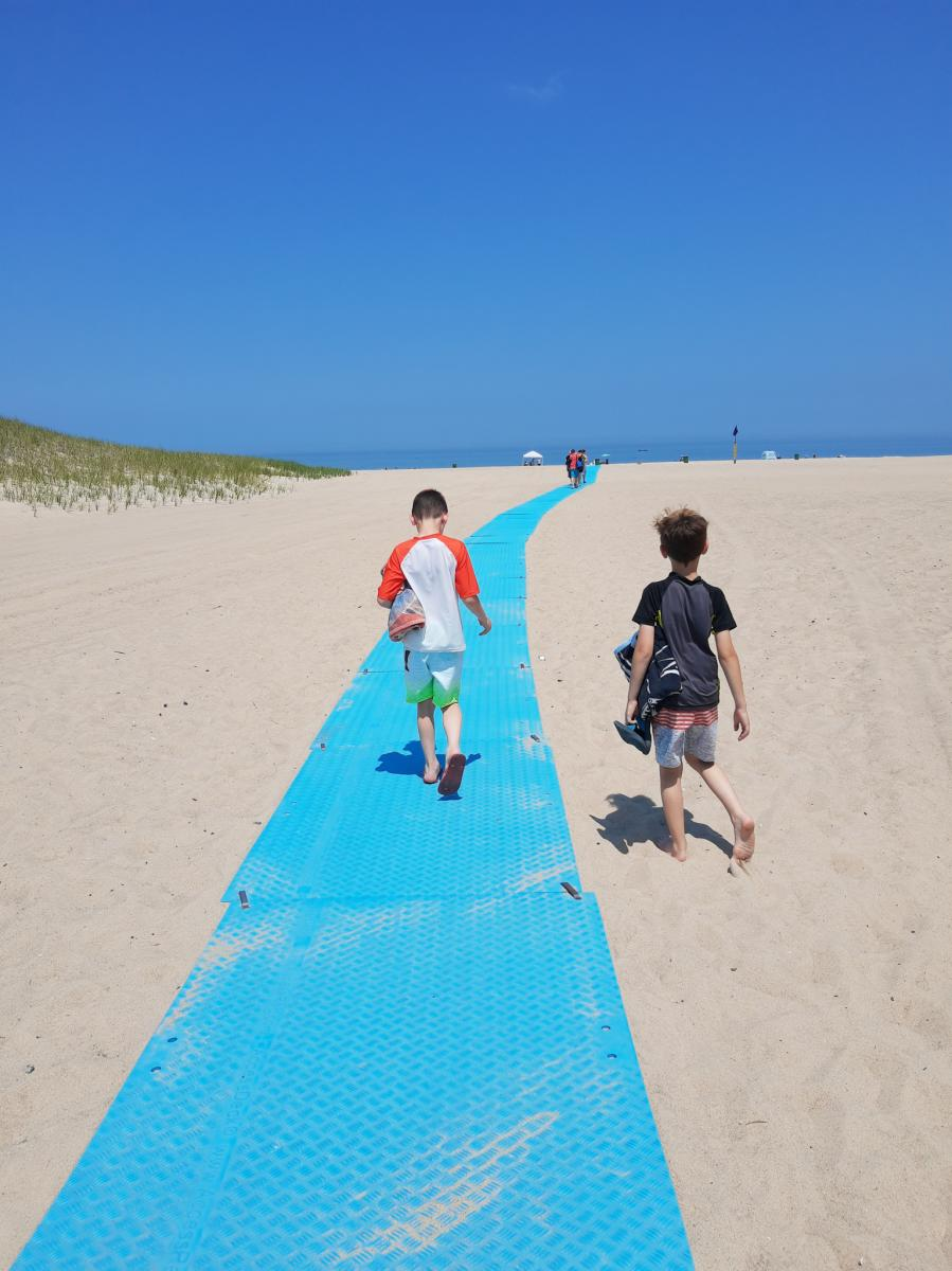 Yes Day in NWI - path to beach