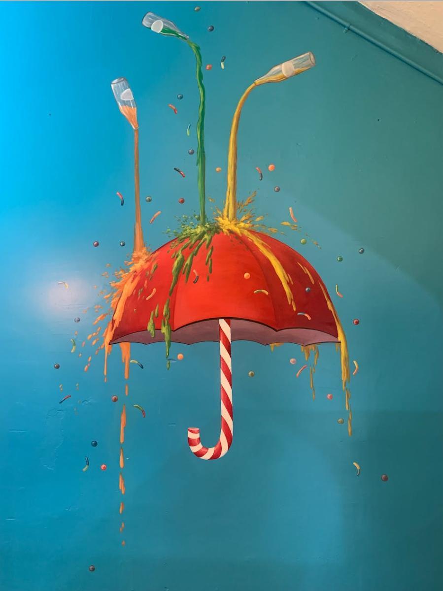 Candy Umbrella Mural