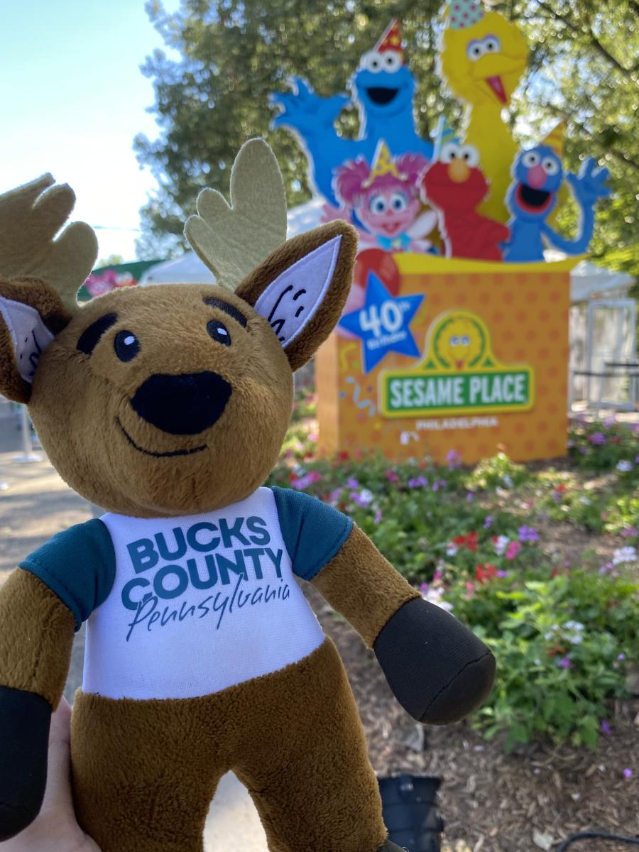 Bucky at Sesame Place