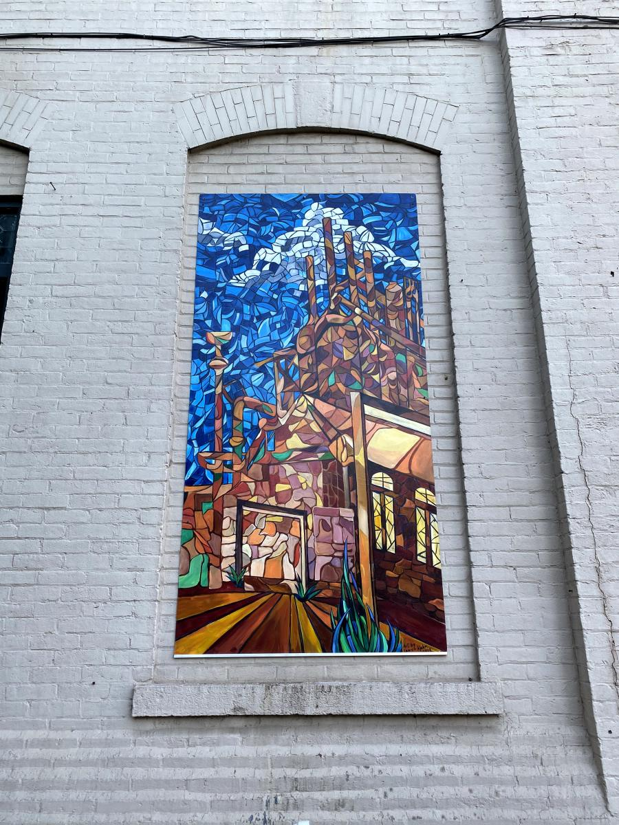 Stained Glass SteelStacks (Mural)