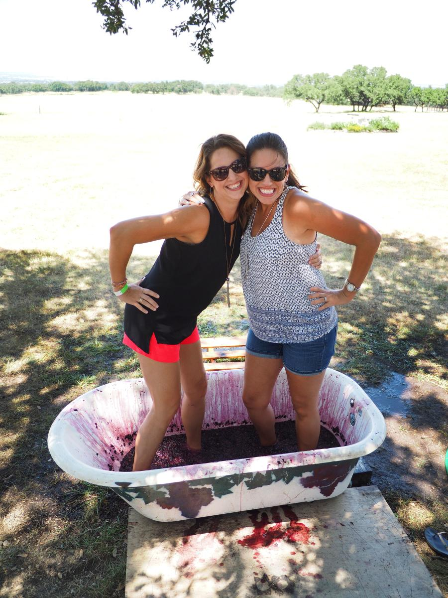 Don't be afraid to get messy at one of the area's many grape stomps