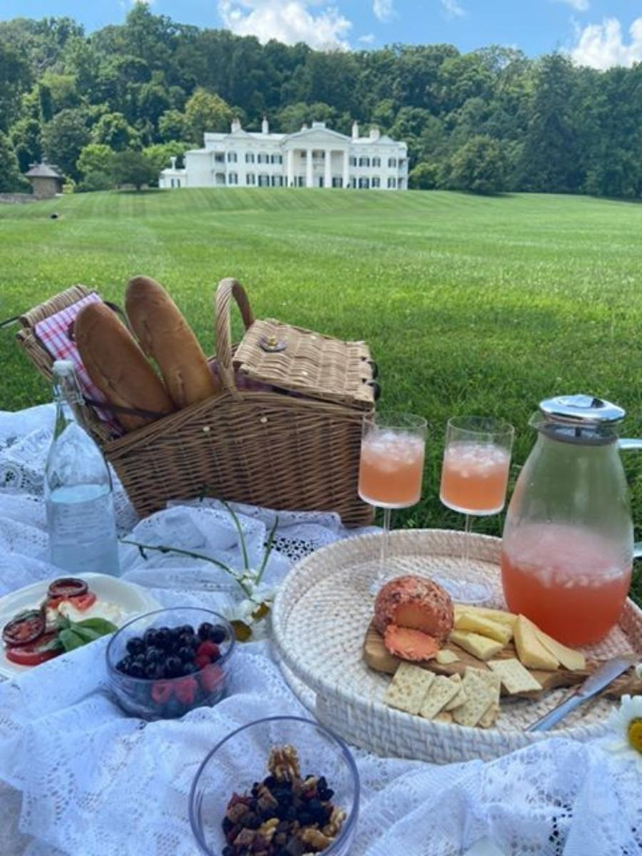 Picnic on the grounds of Morven Park