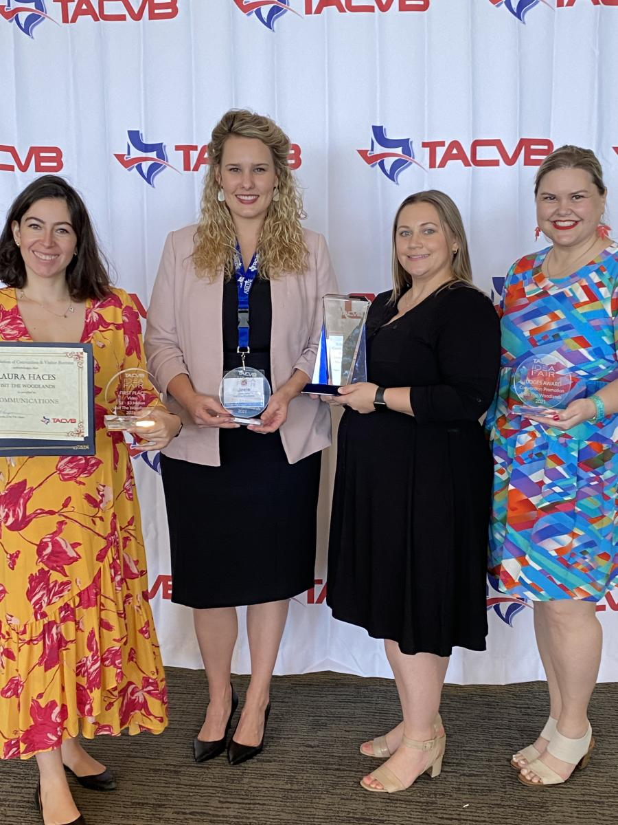 Visit The Woodlands accepts TACVB 2021 Idea Fair Awards