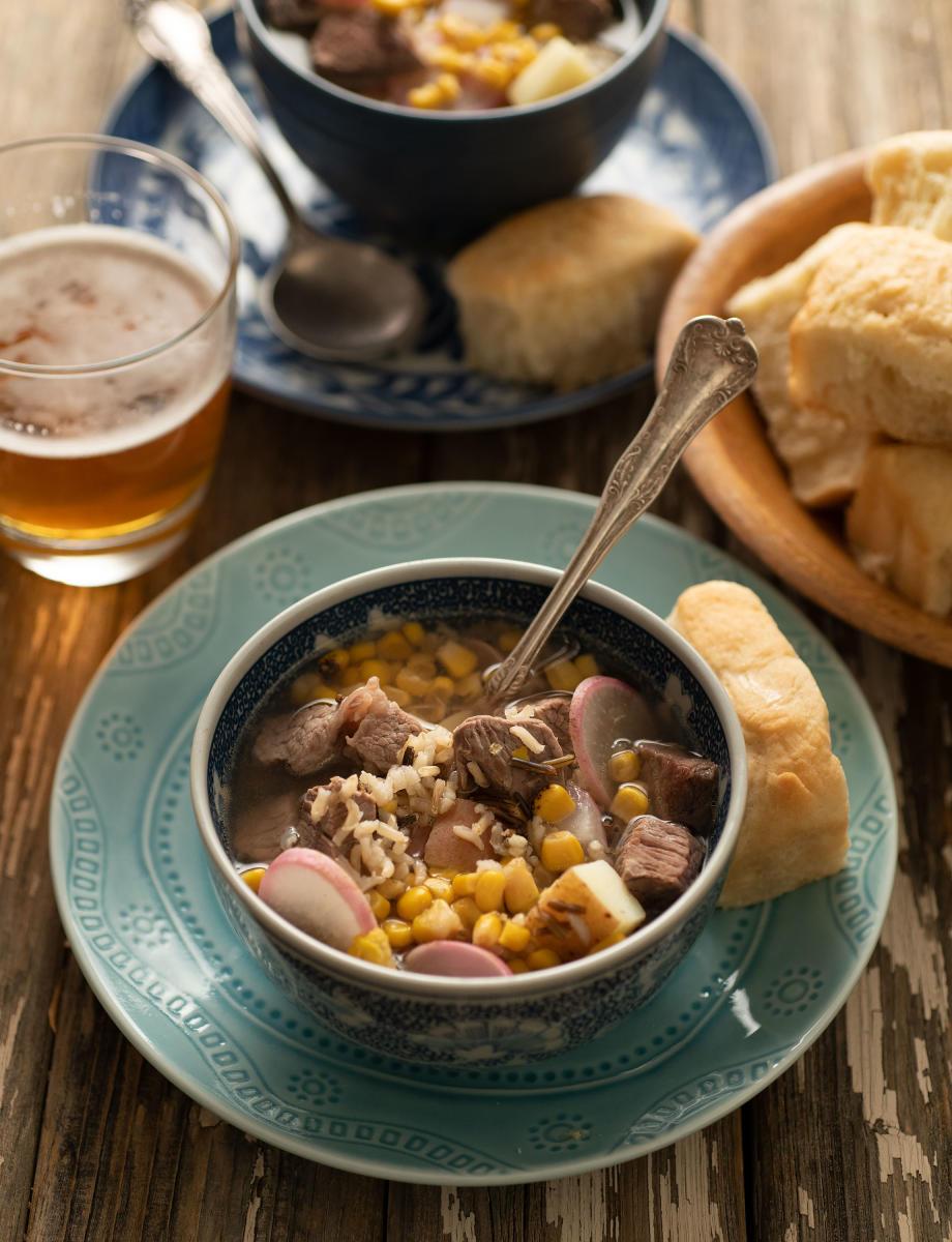 Bowl of Taos Pueblo Buffalo Stew