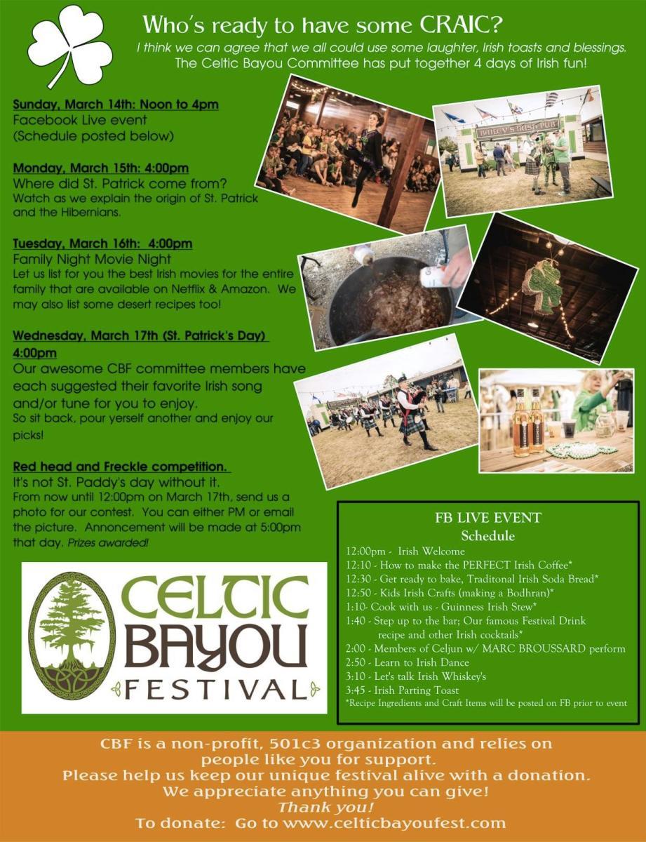 Celtic Bayou Festival 2021