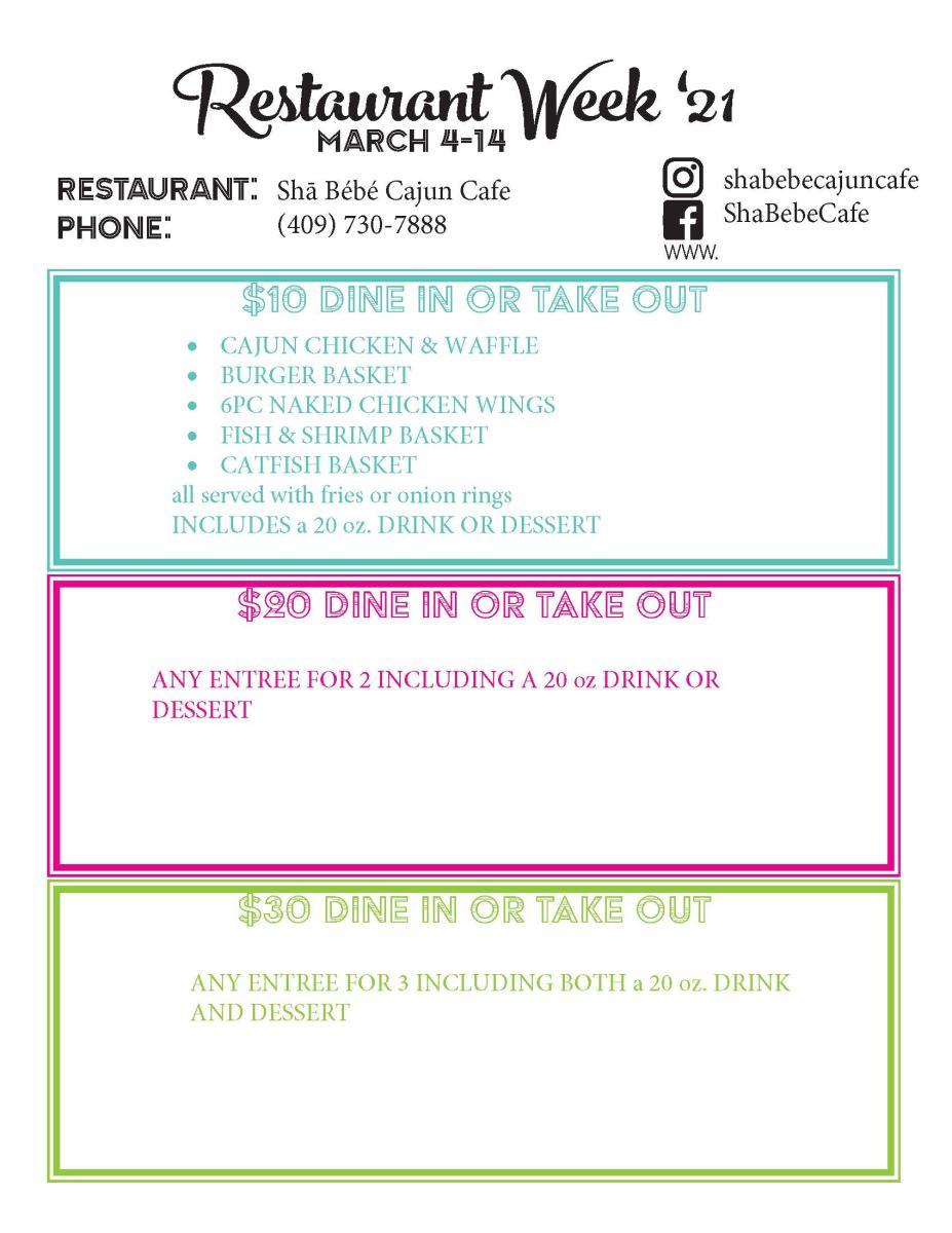 shabebe menu