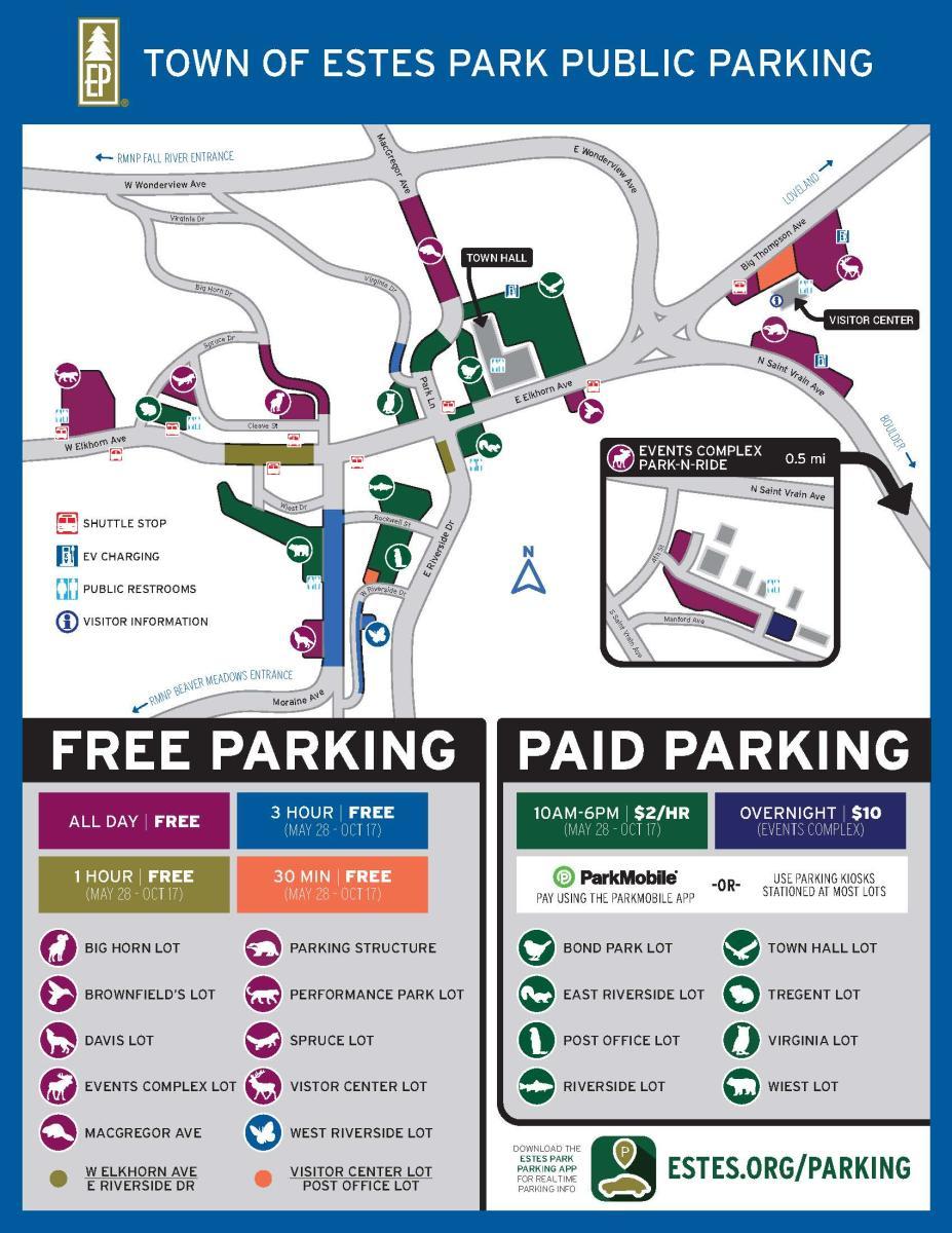 Estes Park Parking Map 2021 - JPG