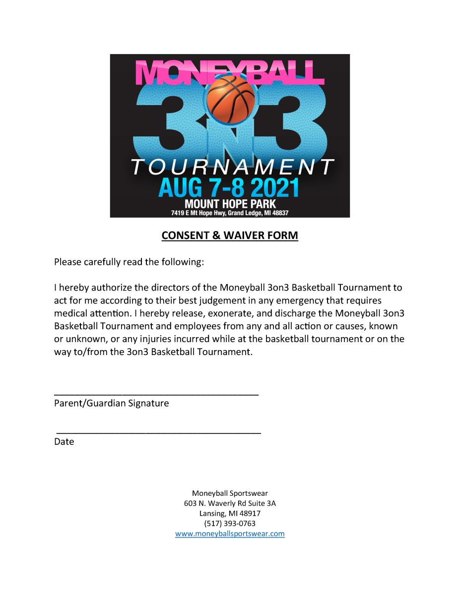Moneyball 3v3 consent & waiver form