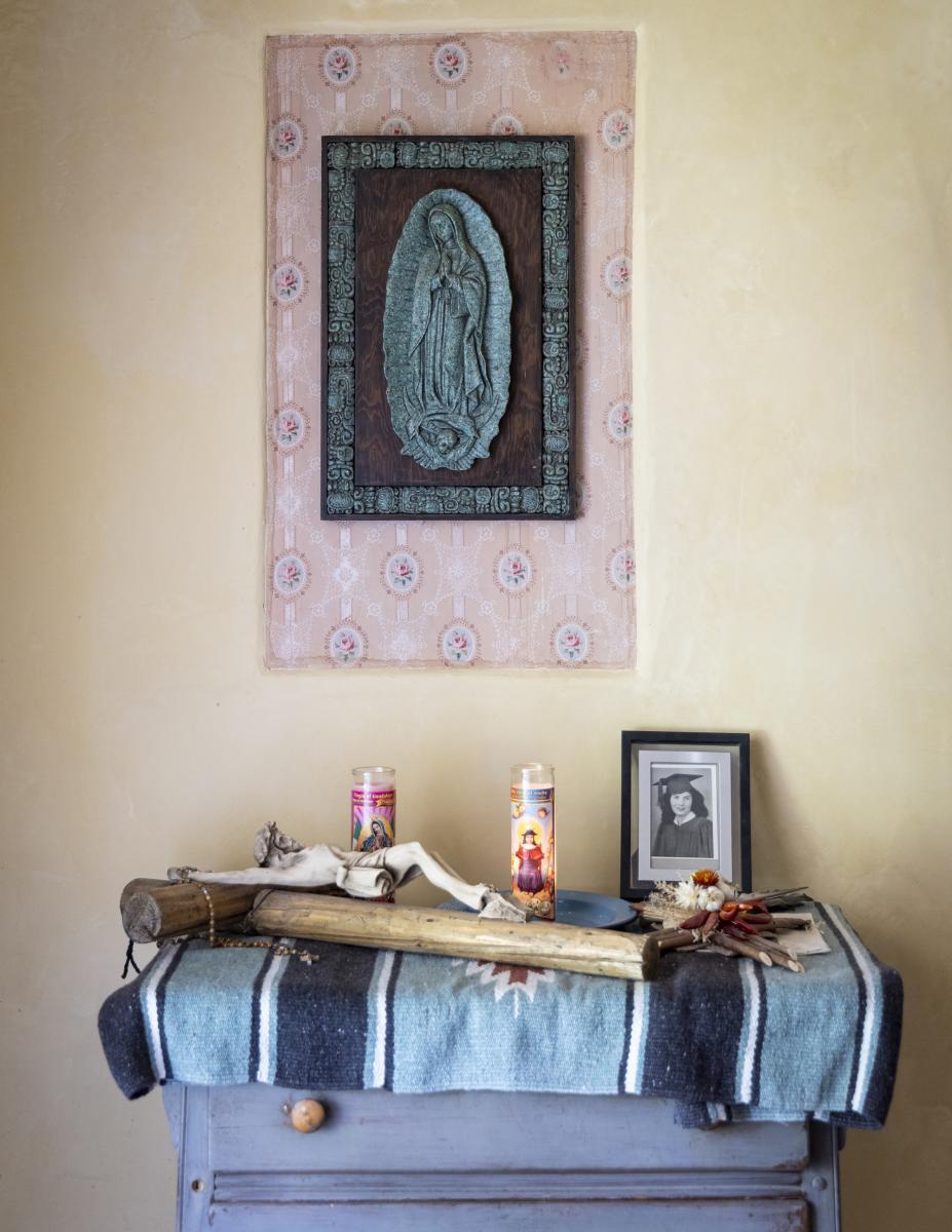 A Family Alter at Levi Romero's home in Dixon