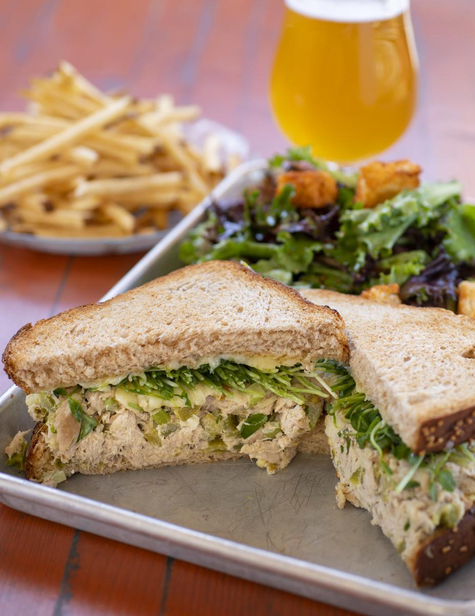Green Chile Tuna Melt, Rowley's Farmhouse, Santa Fe