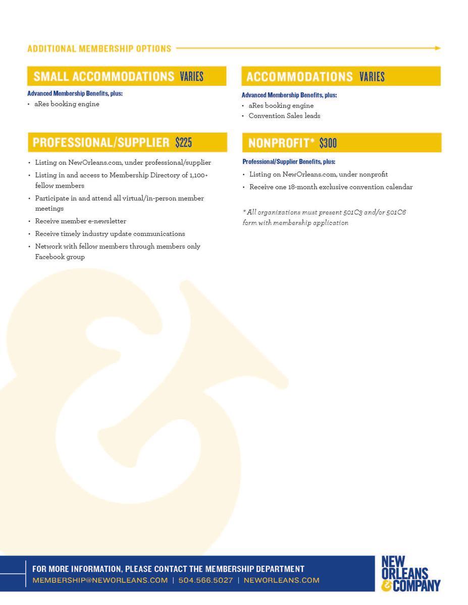Membership Benefits - Page 2