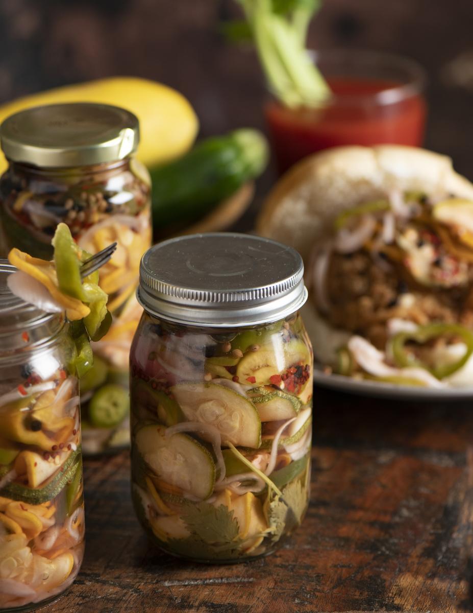 Green Chile, Zucchini, and Squash Pickles