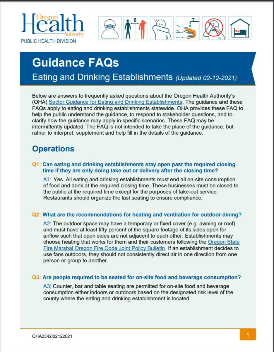 Updated 2-12 Eating and Drinking FAQs