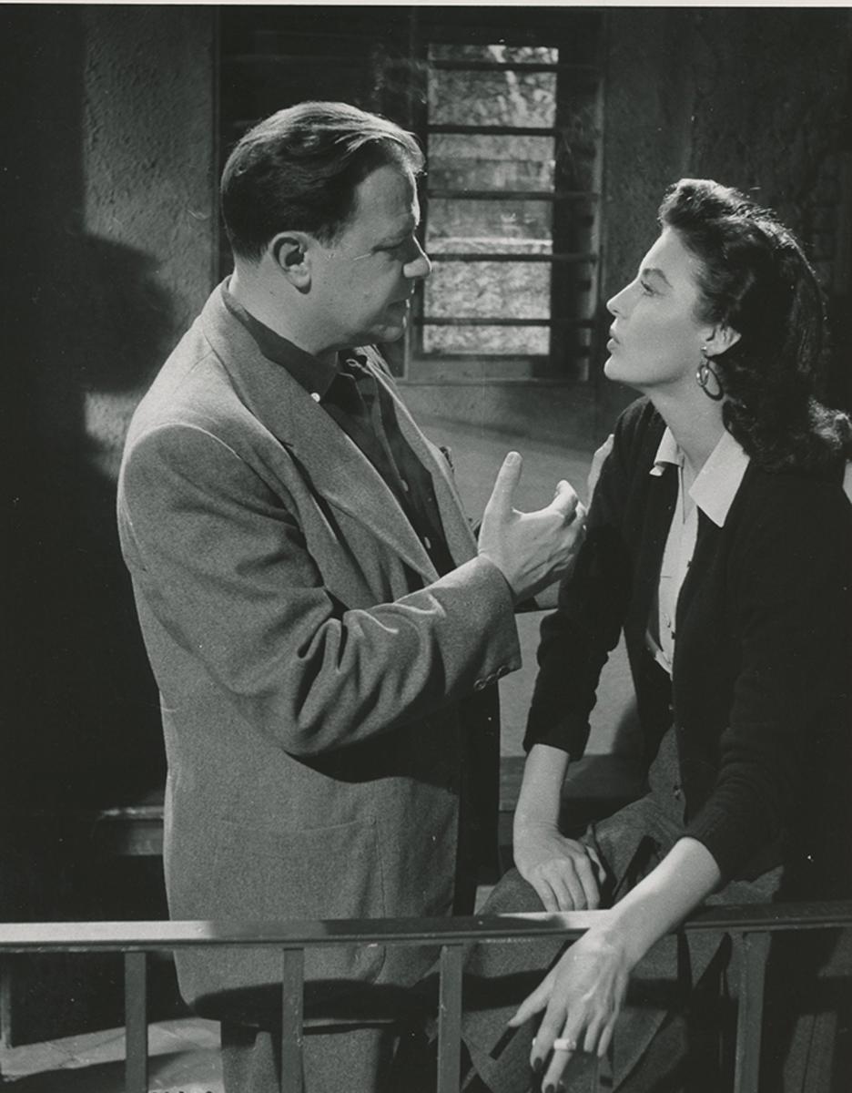 Mankiewicz and Ava on Barefoot Contessa