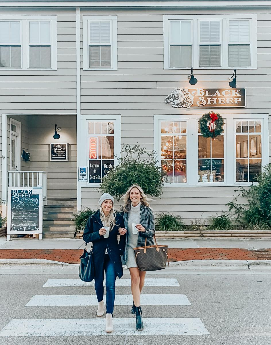 Visitors enjoy a stop at The Black Sheep, located on Beaufort's Front Street.