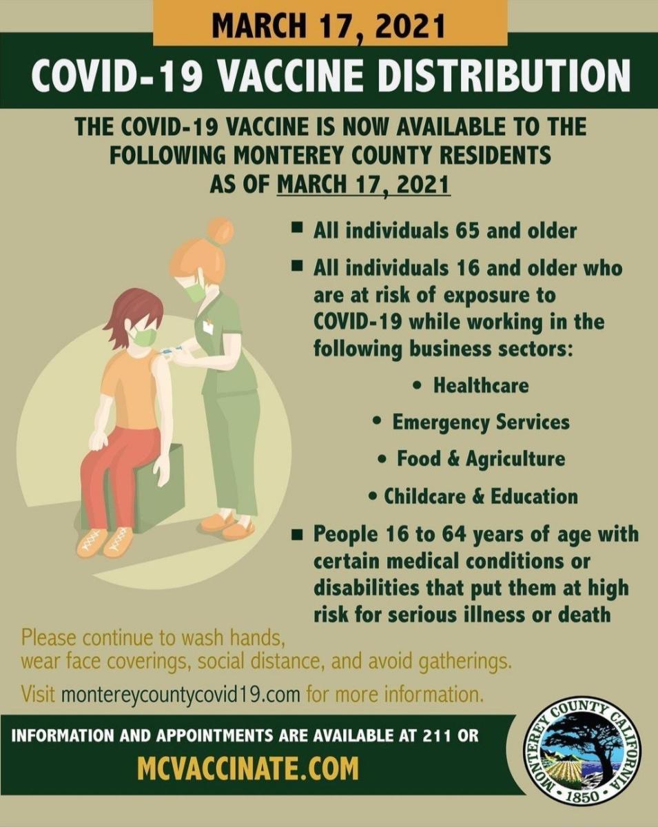 March 17 Vaccine Info