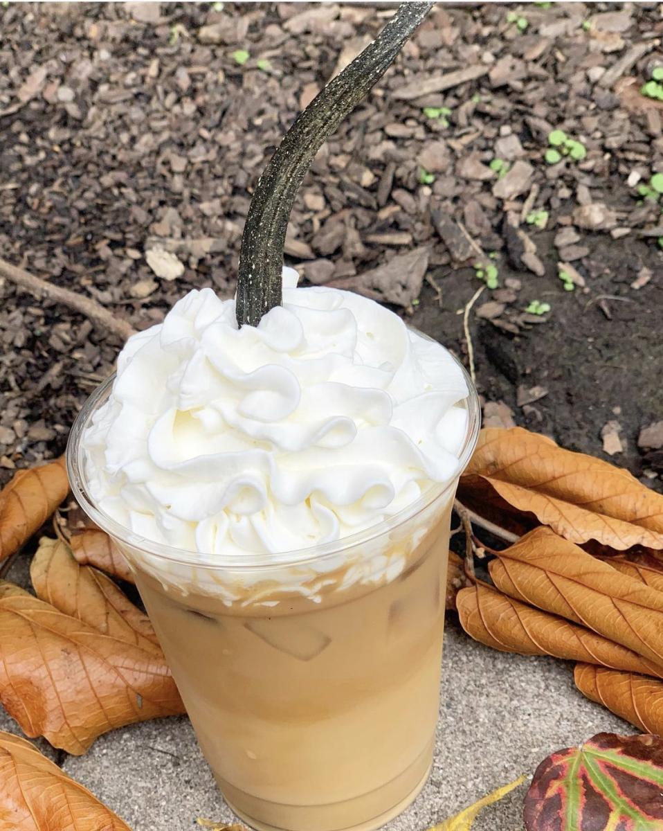 Stauf's Coffee Iced Pumpkin Latte