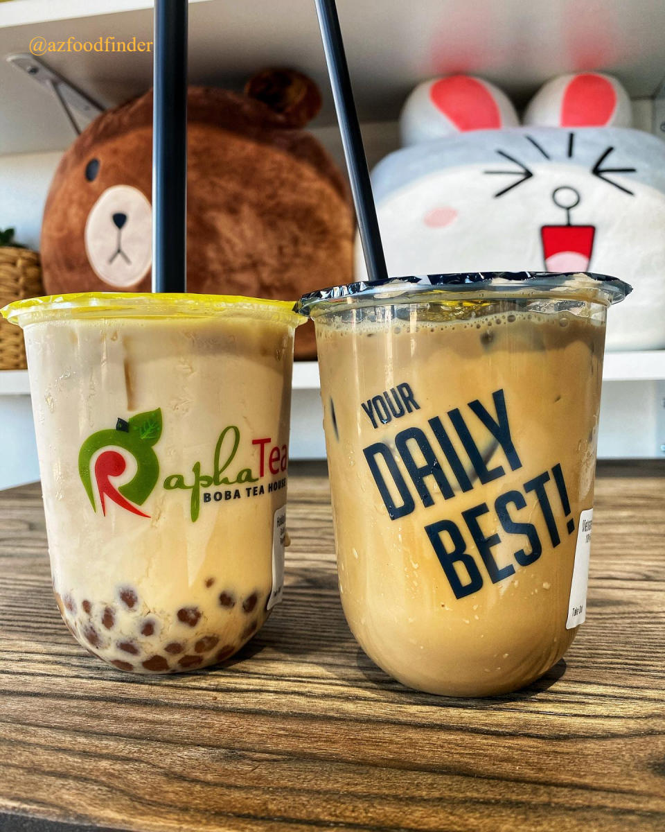 Two Beverages from Rapha Tea in Chandler