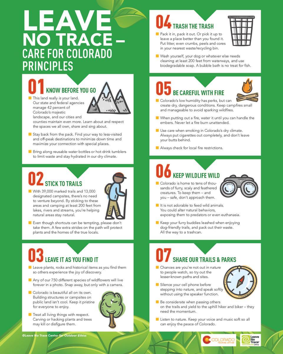 Leave No Trace Care for Colorado Principles