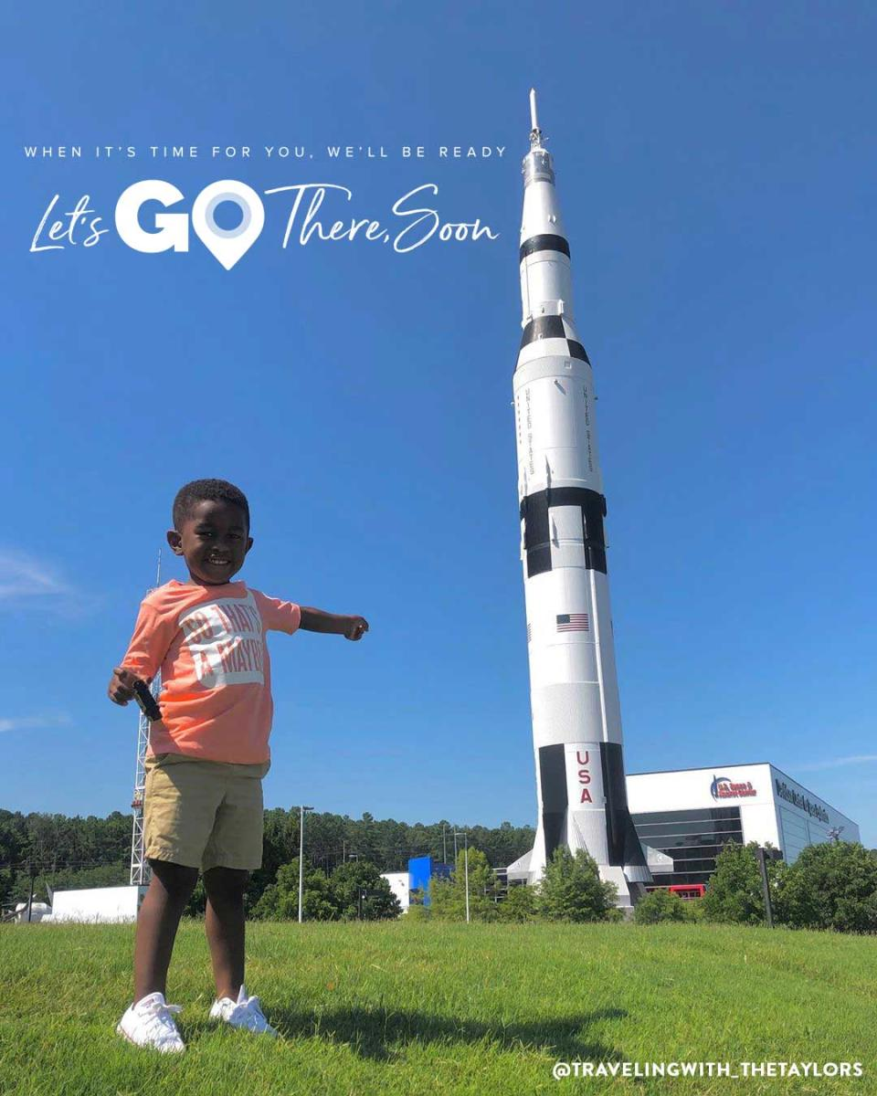 Let's Go There - Rocket Center and boy