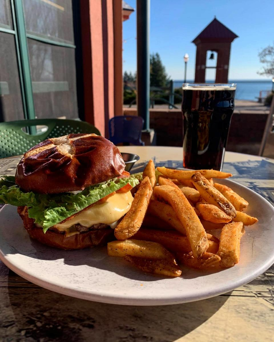 A burger from Iron Bay