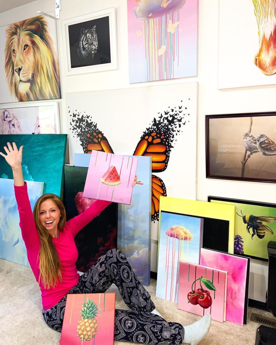 Andrea Ehrhardt In Her Studio
