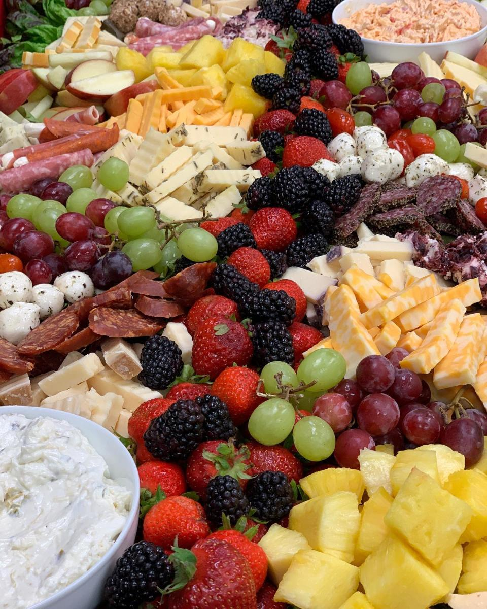 Charcuterie board at Simply Delicious Catering