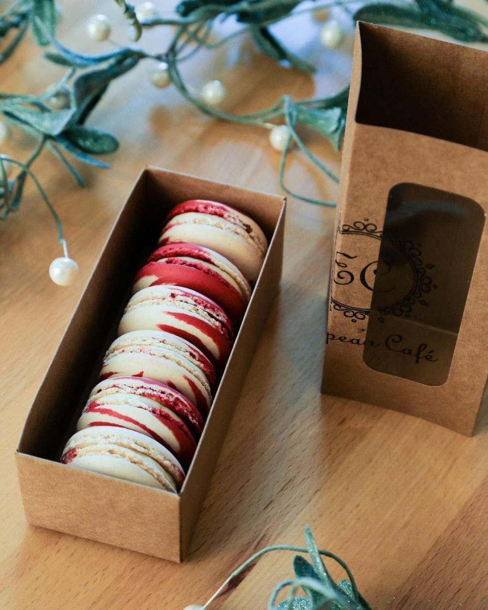 European Cafe Vanilla-Peppermint Macarons, photo courtesy of European Cafe