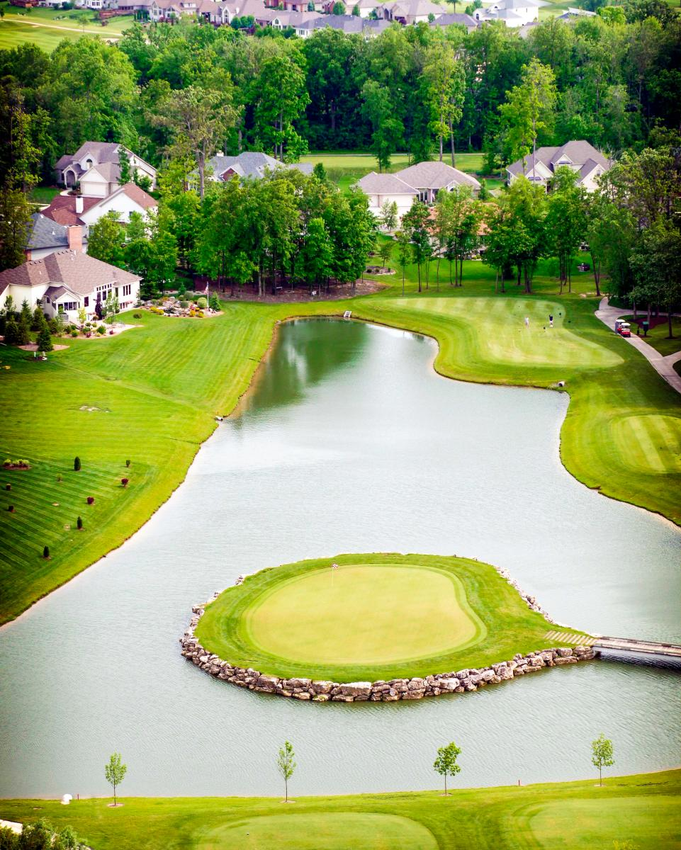 Aerial view of Cherry Hill Golf Course in Fort Wayne