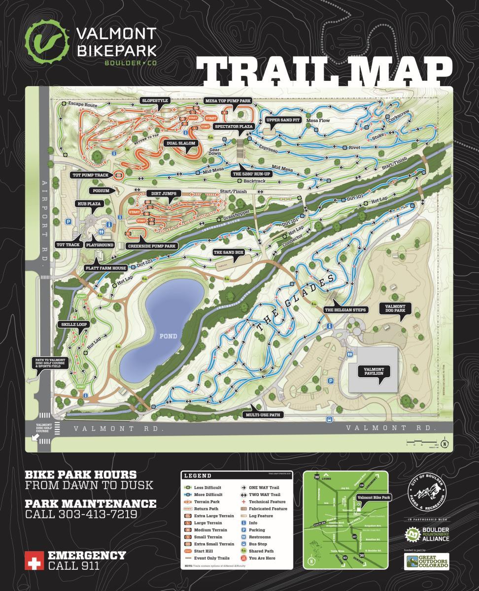Valmont Bike Park Map