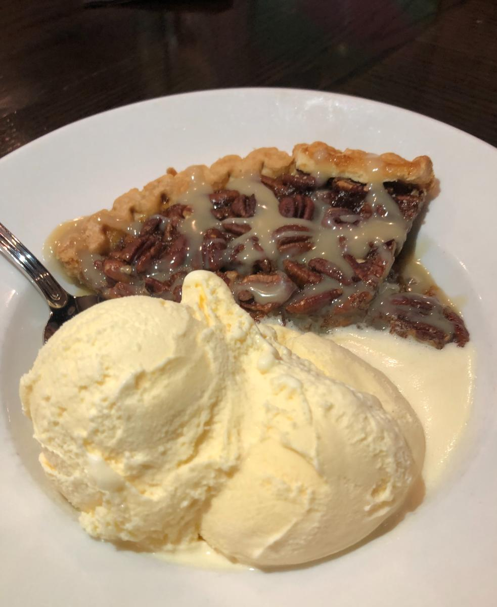 Pecan Pie with Ice Cream at The Republic Grille