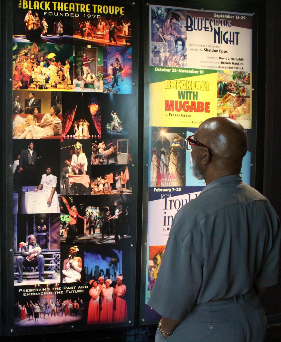 Black theatre Troupe David Hemphill with Show Posters