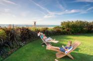 Girlfriends in Gardens at Blockade Runner Beach Resort