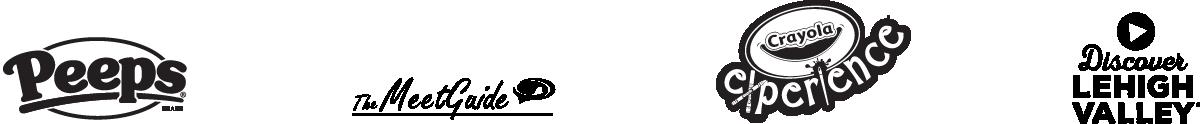 Black Logos Peep Meet Footer
