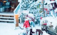 Frosty Snowmen Outside Fred's Mercantile   Beech Mountain