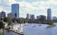 Sailboats in Charles River Basin
