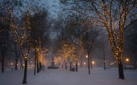 Commonwealth Avenue Mall in winter_1502-2
