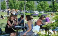 Lunch time on the Greenway