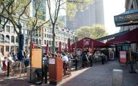 Outdoor seating at Faneuil Hall
